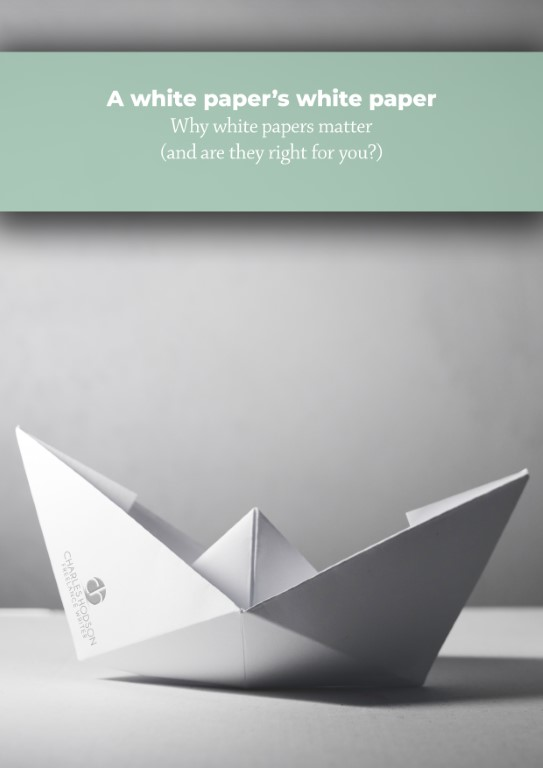 Our white paper on white papers tells you how to use this form of content marketing.